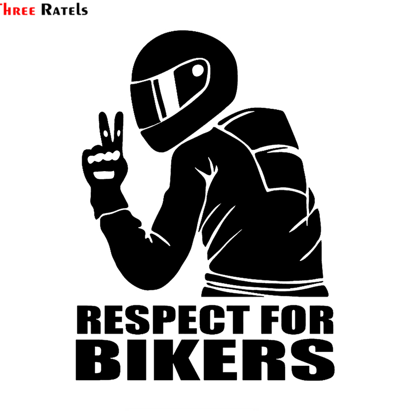 Three Ratels TZ 1950 14x19cm respect for bikers car sticker funny car stickers styling removable decal in Car Stickers from Automobiles Motorcycles