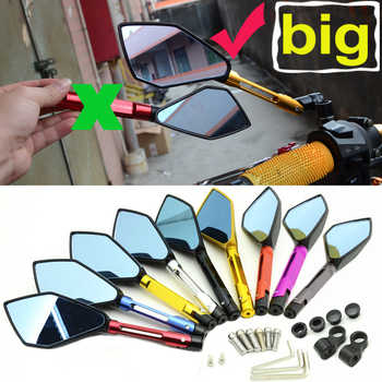 Motorbike Motorcycle Big Rearview Mirror Folding Side Mirrors CNC Aluminum Adjusting for KAWASAKI HONDA SUZUKI YAMAHA DUCATI KTM - DISCOUNT ITEM  35% OFF All Category
