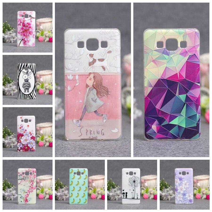 Caso Suave de TPU Para Samsung Galaxy A5 2015 A500 A500F A500H Pintura 3D Funda