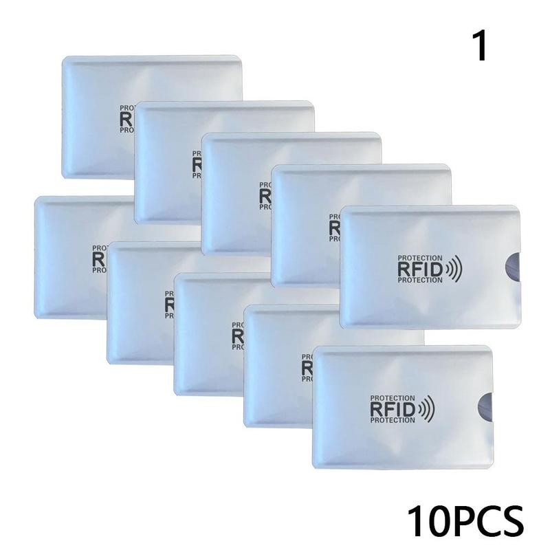 10 Pcs Anti Magnetic Card Sleeve Degaussing Bank Card Holder Nfc Anti Theft Brush Identification Card Anti Rfid Card Sleeve