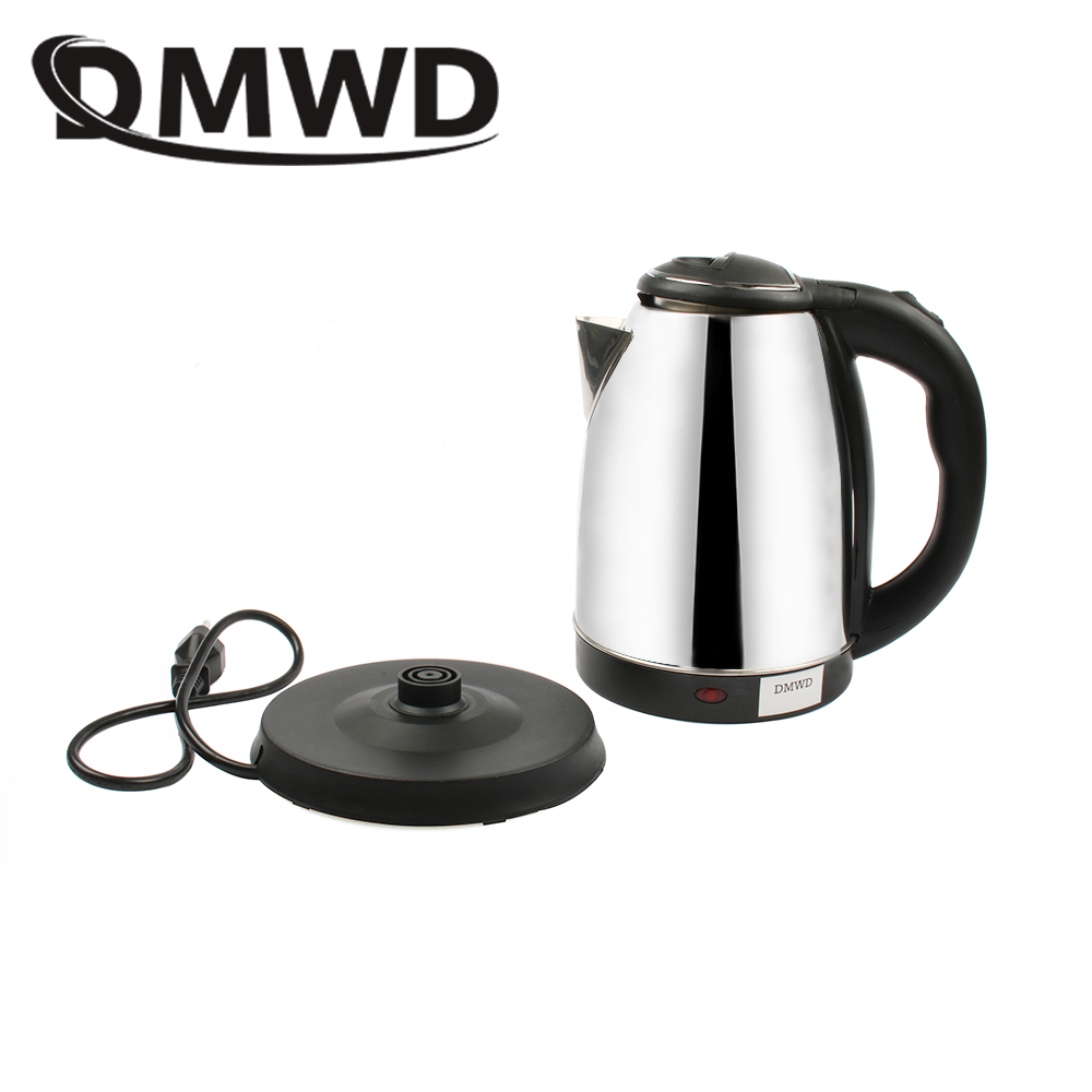 DMWD 110V electric water kettle heating Travel Kettle Mini Cup Portable Stainless Steel Kettle Teapot travelling Tea pot US plug automatic kettle electric brewing tea stainless steel teapot