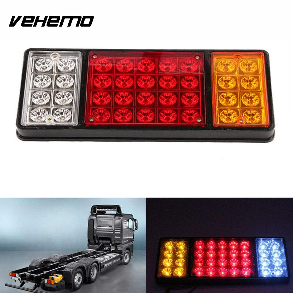 VEHEMO 2Pcs 24V Indicator Car LED Taillight Lamp Stop Lamp LED Light Brake Lamp Rear Light Trailer Truck 2pcs guitar piano bass guitar hook violin ukulele electric guitar stand long arm wall hanger hook holder pa094