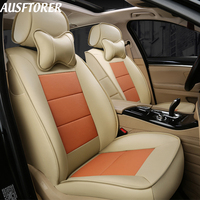 AUSFTORER Genuine Leather Seat Covers for Mercedes Benz S 320 350 300 500 400 450 600 Seat Covers Cars Seats Supports Protectors