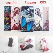 Роскошные Высокое качество узор кожа красочные флип updown чехол для Lenovo S 60 S60 s60-a s60w телефон чехол для Lenovo s60a