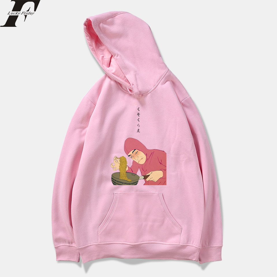 Image 5 - Fashion Pink Guy Ramen King VAPORWAVE Women Men Sweatshirts Hoody Harajuku Casual Hooded Mens Womens Hoodies Pullover Plus Size-in Hoodies & Sweatshirts from Men's Clothing