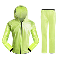 Waterproof Breathable Cycling Raincoat Split Bike Jersey Set Poncho For Cycling Running Mountaineering and Hiking
