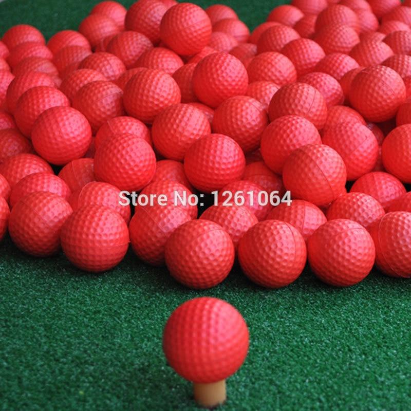 2018 New Brand 100 pcs/bag Red Indoor Outdoor Training Practice Golf Sports Elastic PU Foam Balls
