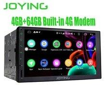 """7 """"Schermo di Tocco pieno Registratore a Nastro Android Car Radio Stereo GPS Unità di Testa di Navigazione Built-In 4G Modem DSP multimedia Player FM"""