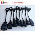 2016 Mejor Calidad Auto Car Car Diagnostic Cables Cables de Camiones TCS CDP Pro Cables OBD2 Para Camiones Con Juegos Completos 8 Camión Cables