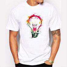 2019 New T-shirts Summer Fashion Bulb 3D Print t shirt Men Casual O-Neck Men Tshirt Brand Cotton Funny T-shirt homme Top Tees(China)