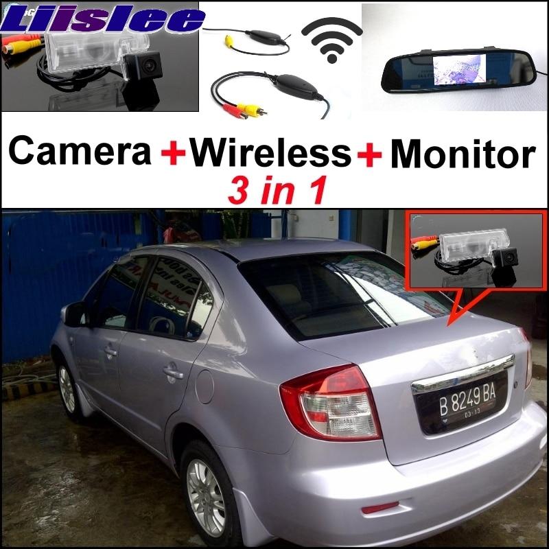 Liislee 3 в 1 специальные камеры заднего вида + беспроводной приемник + зеркало монитор легко DIY парковочная система для Сузуки Балено седан Нео