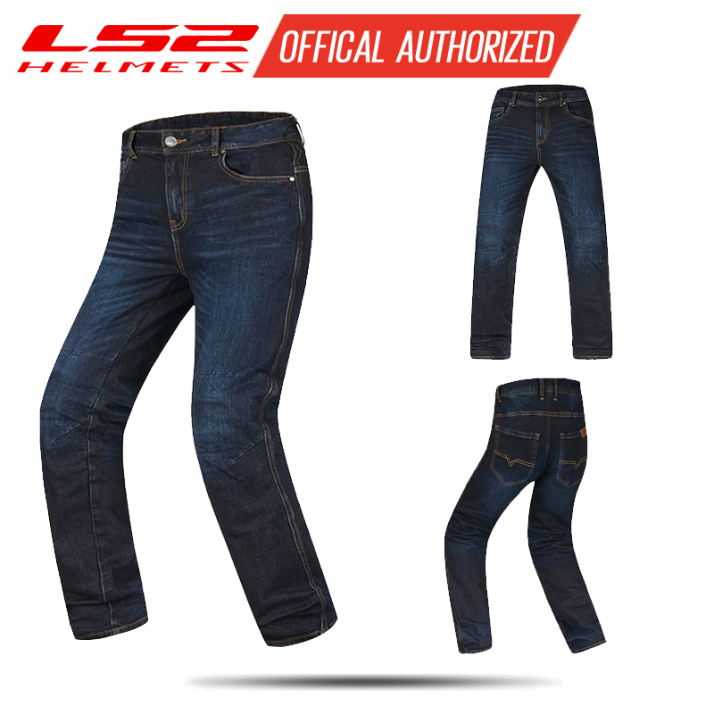 LS2 New Motorcycle Riding Jeans Four Seasons Motorcycle Racing Pants Knight Windproof Cold Anti-fall Equipment Male