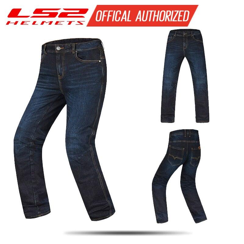 LS2 nouveau moto équitation jeans quatre saisons moto course pantalon chevalier coupe-vent froid anti-chute équipement mâle