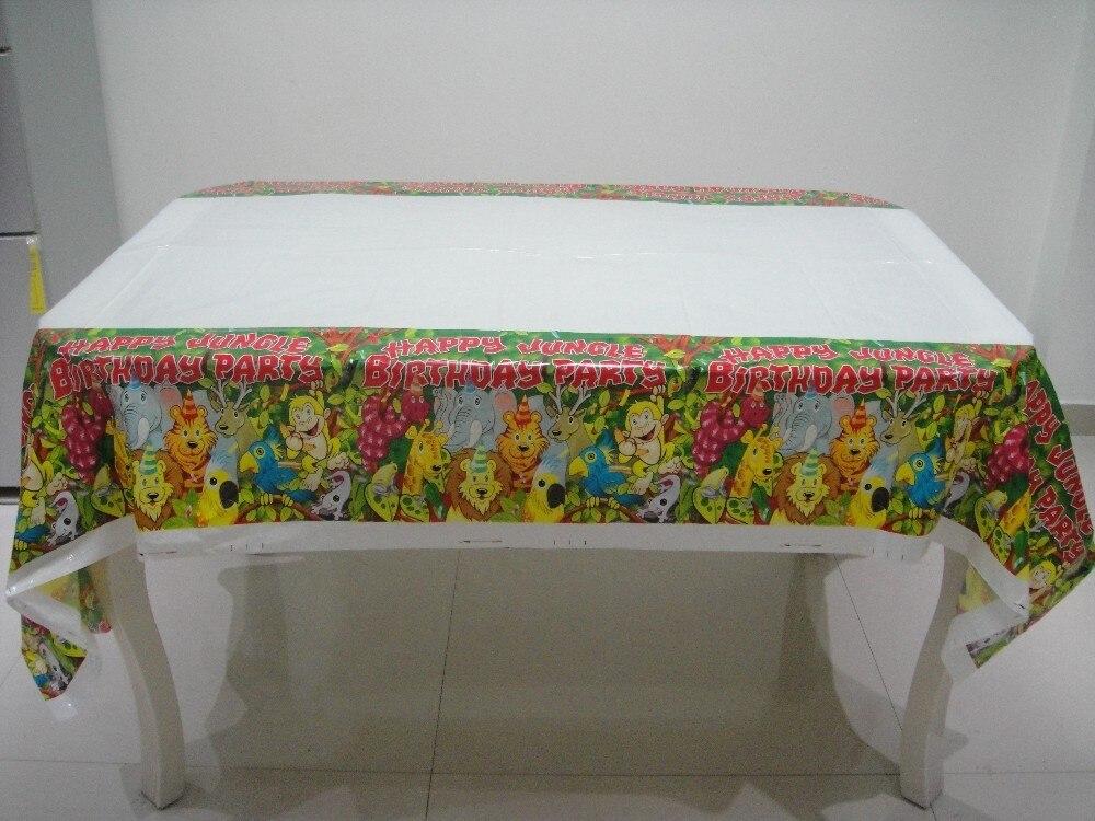 1pcs 180 108cm jungle king lion theme pe table cloth for