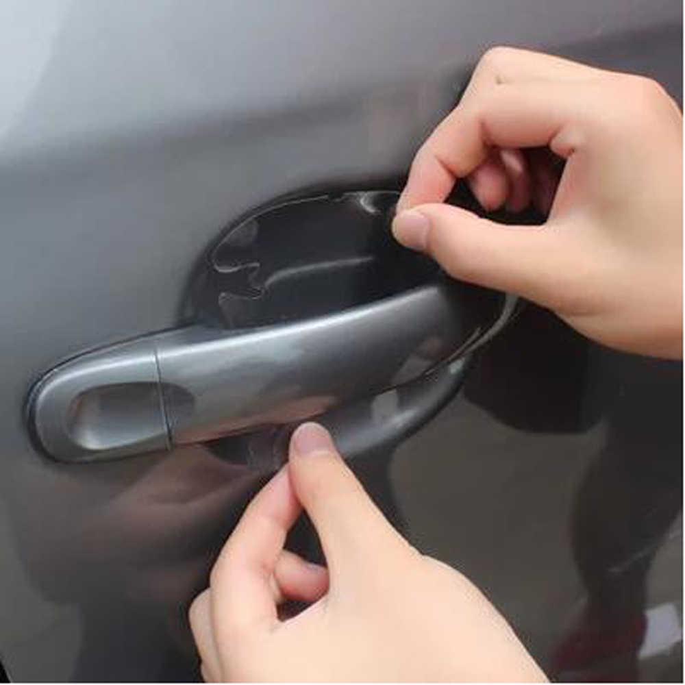 2018 nuevo mango de la puerta del coche pegatinas película protectora para Hyundai Solaris Tucson 2016 I30 IX35 I20 acento Santa Fe Accesorios