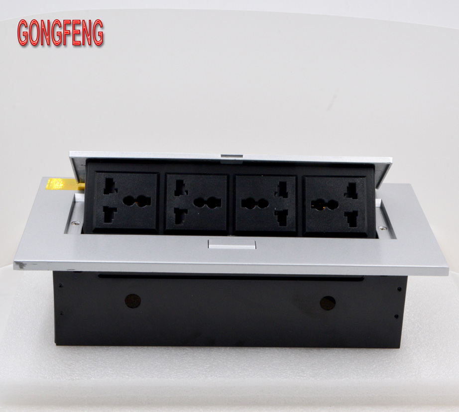 GONGFENG NEW Hot Sale K208 Socket Multifunction Open desktop Box Panel Universal power supply Jack Special