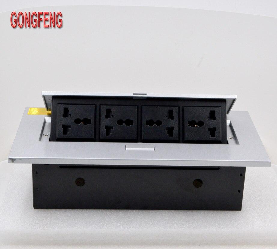 GONGFENG NEW Hot Sale K208 Socket Multifunction Open desktop Box Panel Universal power supply Jack Special Wholesale