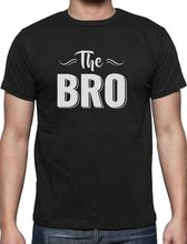 100% Cotton Geek Family Top Tee Crew Neck Men The Bro Great For Brothers, Siblings Brothers Short-Sleeve Summer Tee Shirt