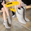 De tacón alto tacones delgados sexy zapatos de envolver el pie en punta solos zapatos zapatos femeninos plataforma bajo top zapatos otoño botas