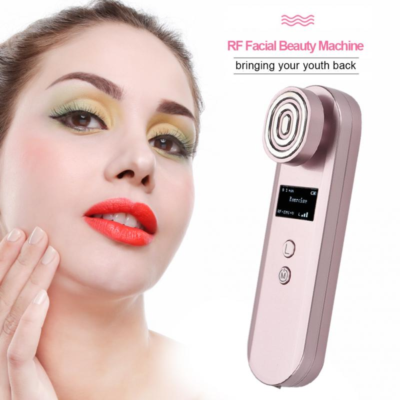 RF Facial Beauty Machine Radio Frequency Anti Wrinkles Slimming Tightening Rejuvenation Skin Care Tool mini portable usb rechargeable ems rf radio frequency skin stimulation lifting tightening led photon rejuvenation beauty device
