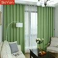 Затемняющие шторы из искусственного льна  4 цвета  зеленые  70%-85%  однотонные  для гостиной  спальни  окон