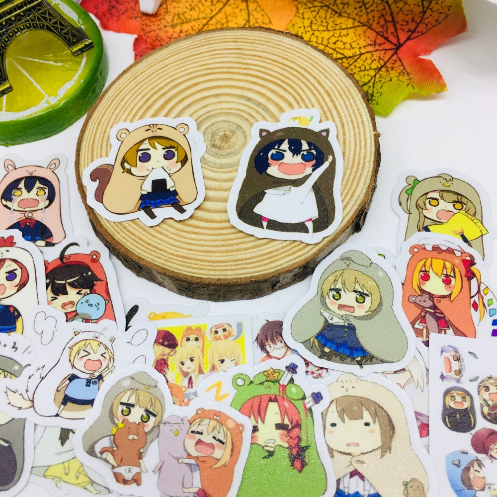 40 Pcs/lot Love Anime Girl Scrapbooking Stickers  Car Case Waterproof  Laptop Bicycle Notebook Backpack  Waterproof Sticker
