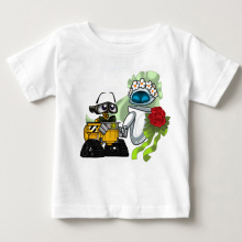 WALL E anime T-shirt Top Cotton children T shirt New Design High Quality Digital Inkjet Printing boys Tshirt MJ