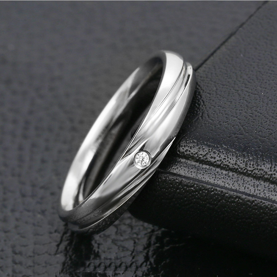 2017 New Fashion Vintage Stainless Steel Rings For Women With Stone Classic  Ring Party Gifts Wedding Lady Costume Jewelry C01761