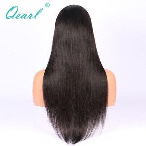 """Image 5 - Супер длинные 24 """"26"""" 28 """"полностью кружевные человеческие волосы, искусственные волосы, шелковистые, прямые, бразильские волосы Remy, предварительно выщипанные, средней части, с волосами ребенка Qearl"""