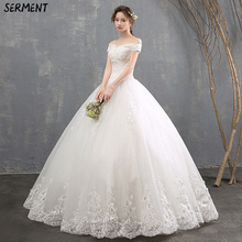 Wedding Dress 2019 New Bride Europe and The United States Was Thin Fluffy Out of Door Fast-selling Explosion