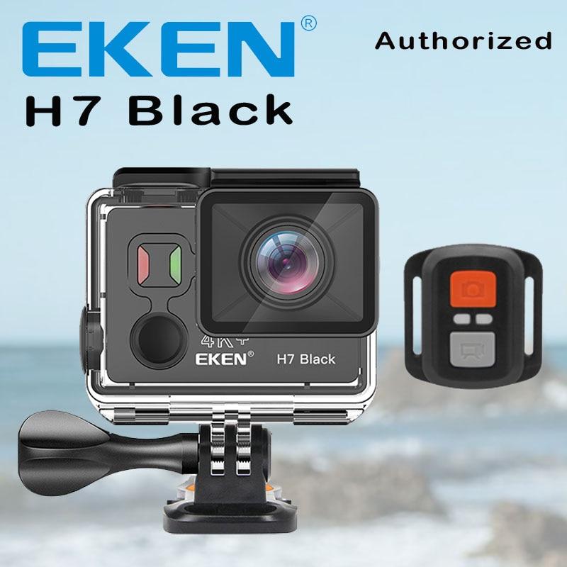 Caméra d'action noire EKEN H7 Ultra HD 4 K 4 k/30fps pour Ambarella A12 14MP Go étanche Wifi Sport Cam Pro EIS Rotation de l'écran DV