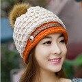 Otoño de la mujer y Sombrero de Invierno Moda Mujer Sombreros de Invierno Casquillo Del Oído Protector Térmico Femenino Engrosamiento de Terciopelo