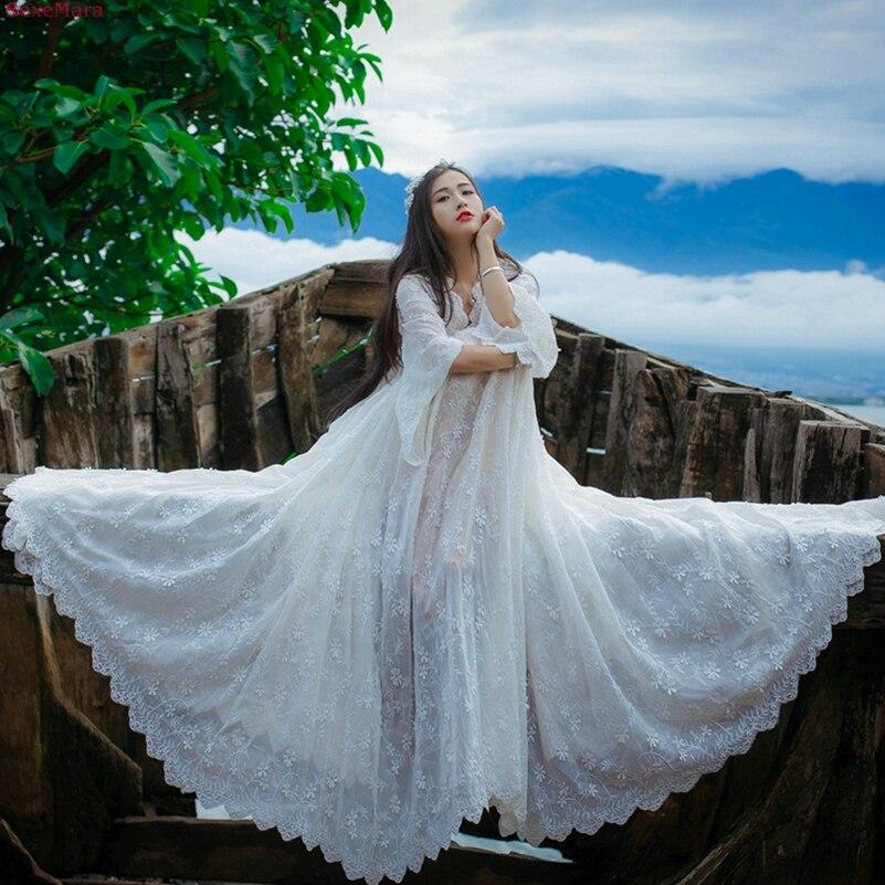 V La Gratuite pièce Grand Mexemara Mode Nouvelle Robe Deux Broderie cou Pendule Livraison Costume Blanc OdqztU