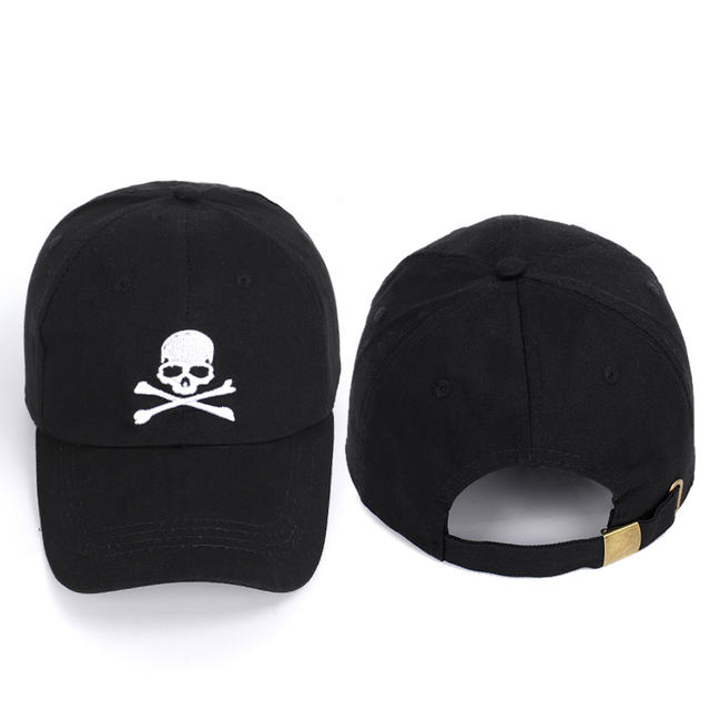 SKULL DANGER EMBROIDERY BASEBALL CAPS (3 VARIAN)
