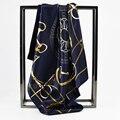 60 cm * 60 cm 2016 Bufanda de Moda de la Marca Femenina Bufanda Mancha Mujer Satén Bufanda Cuadrada Chal para Damas