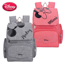 Bolso de pañales de mamá de Disney, bolso de maternidad, bolso de lactancia para cuidado del bebé, mochila de viaje de diseñador de Mickey Minnie, bolso de mano