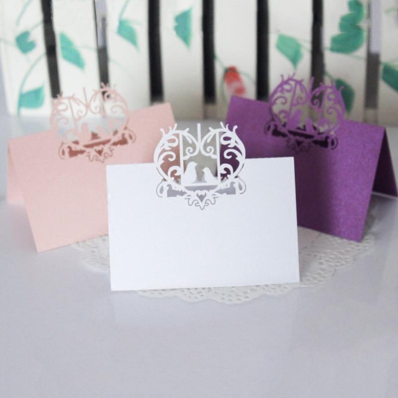 30pcs NEW Small Folding Wedding Cards Decoration Mariage Girlfriend Birthday Gift Ideas Cheap
