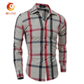 Spring Patchwork Plaid Shirt Men Long Sleeve Slim Fit Mens Dress Shirts Casual Social Shirts Fashion Business Camiseta Masculina