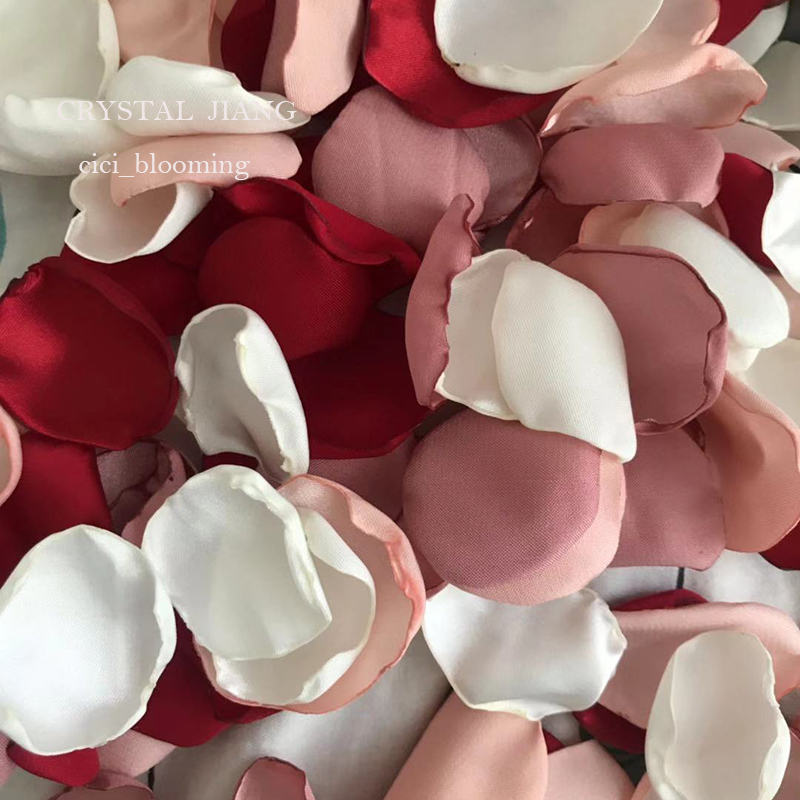 Wine Red Old Pink Ivory And Peach Petals For Weddings Flower Girl Rose Petal 100 Pieces /Lot  Real Image 2019