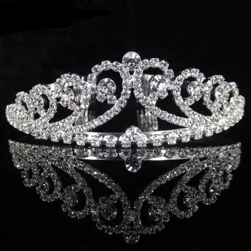 Full Crystal Rhinestone Bridal Tiara and Crown with Comb Queen Noiva Diadem Headpiece Wedding Hair Jewelry Accessories for Women