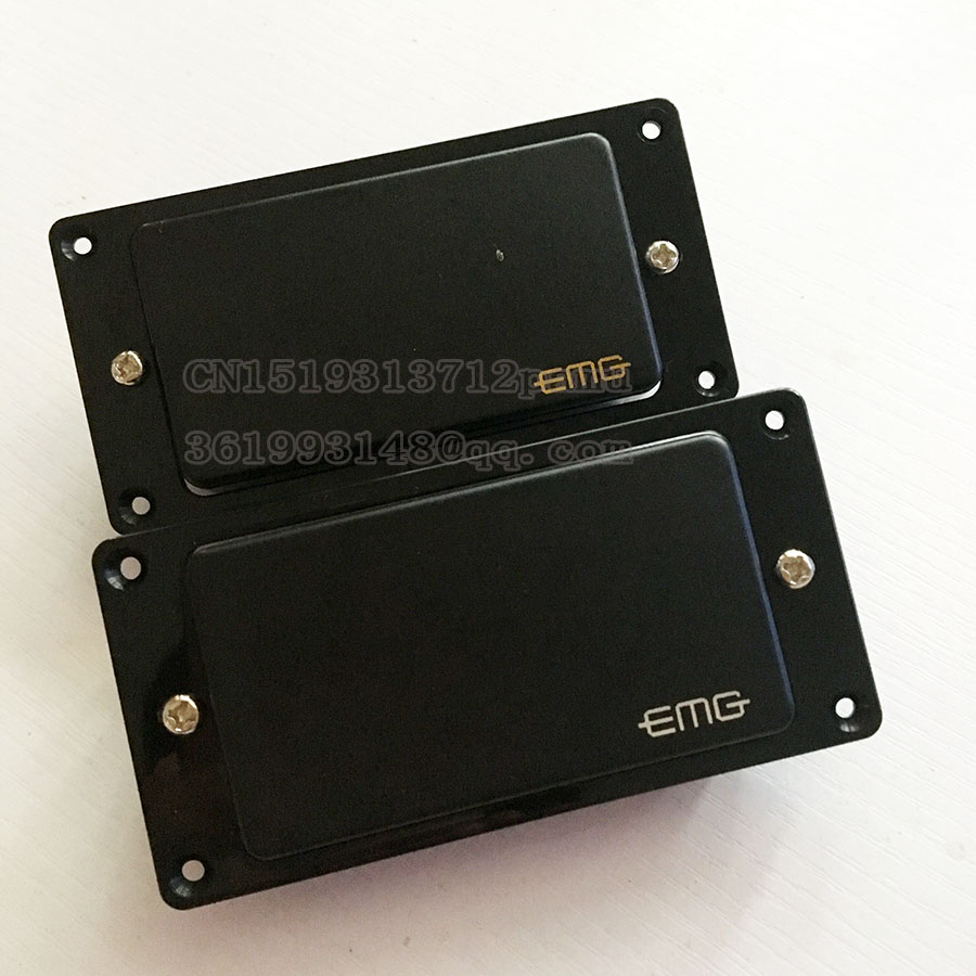 EMG 81/85 Passive pickups Black Electric Guitar Neck and Bridge Humbucker Pickup Free Shipping guitar pickup humbucker gold chrome black double coil pickups electric guitar parts accessories bridge neck set