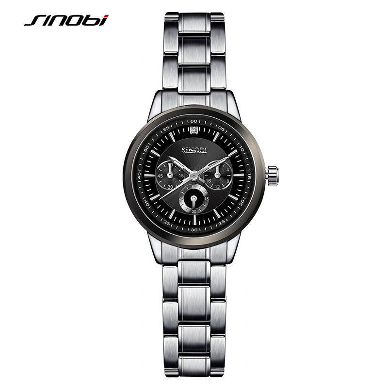 SINOBI Women's Bracelet Fashion Steel Wrist Watches Luxury Brand Geneva Quartz Clock Ladies Wristwatch Relojes Mujer Saatler потребительские товары geneva relojes mujer 2015 montre g cd01