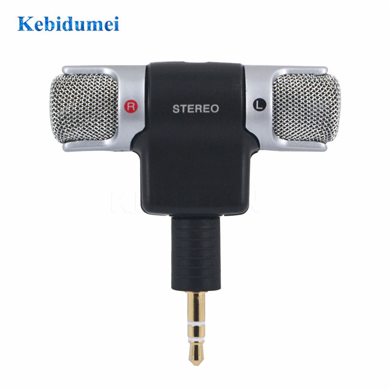 Mini Mic Digital Stereo Microphone Digital Mic Adapter 3.5mm Jack For PC Laptop Notebook
