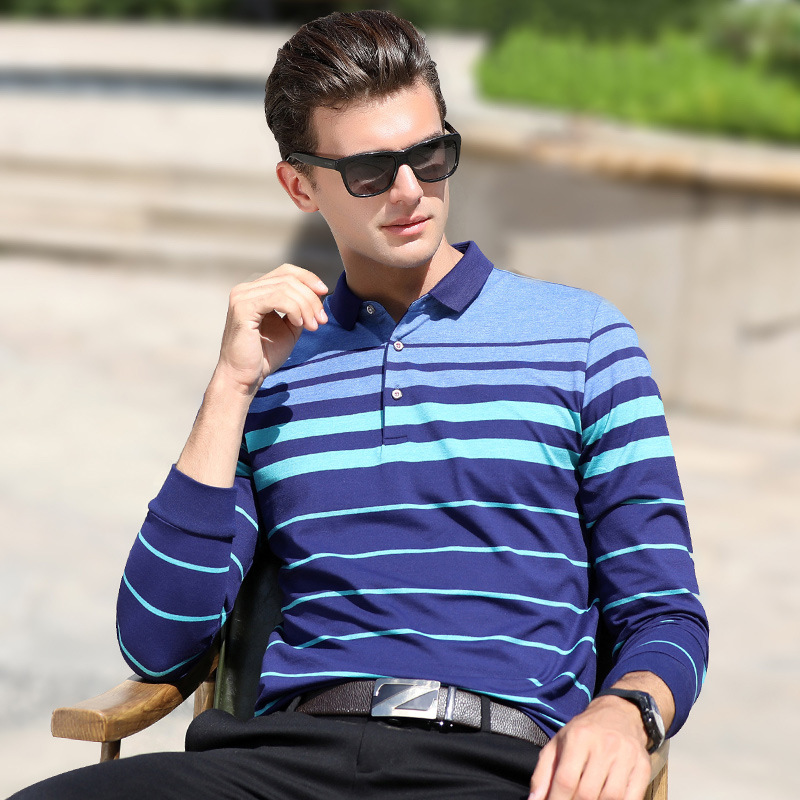 New arrival autumn winter long sleeve   polo   shirt men cotton business casual breathable homme camisa plus size XXXL clothing 1802