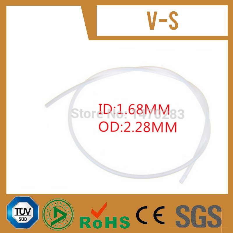 10 meter long PTFE 14T Tube OD 2 28mm ID 1 68mm Approve SGS certification for