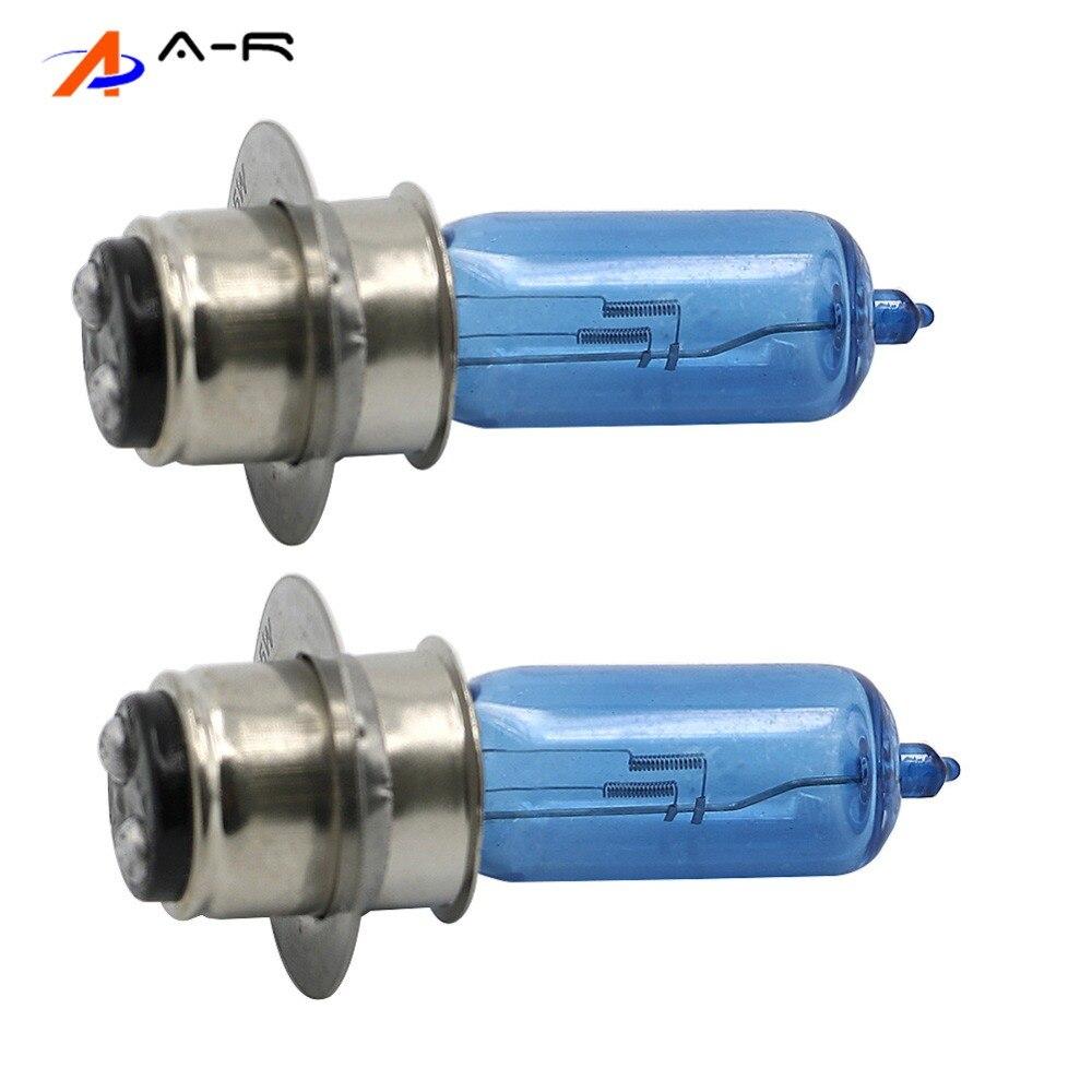 1 Pair Head Light Replacement 12V P15d-25-1 35W Bulbs Headlight Lamp For Yamaha YFZ 450 Kawasaki KLX PRAIRIE Honda Suzuki LTF