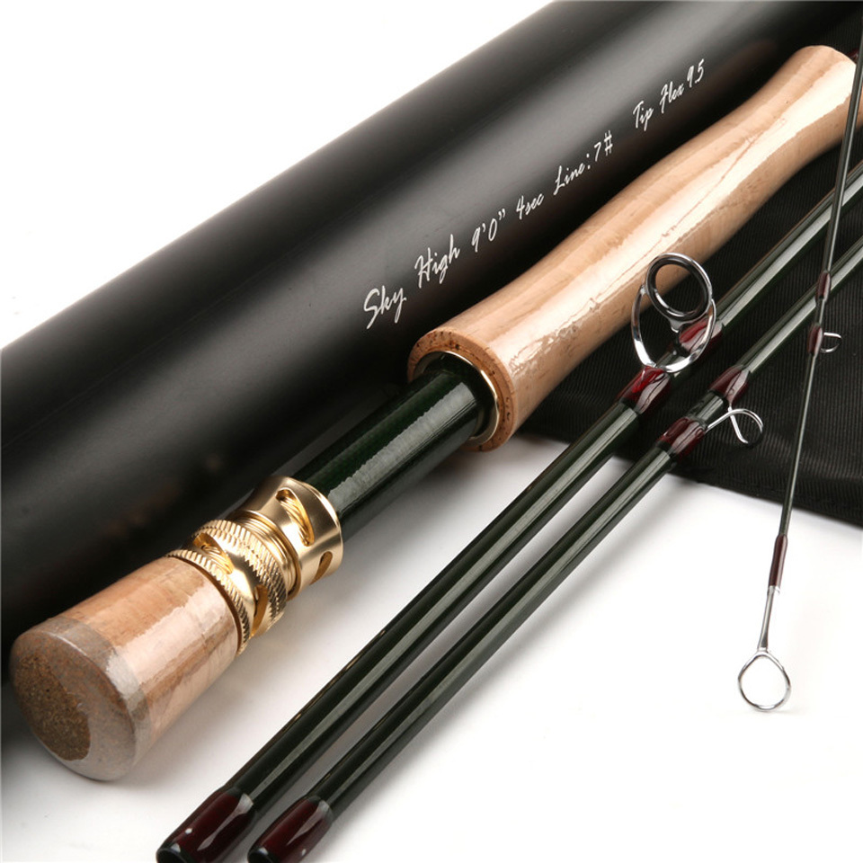 Maximumcatch im12 40 46t toray carbon fly fishing rod 9ft for Shipping tubes for fishing rods