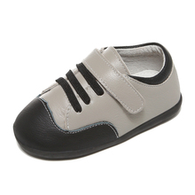 Buy little boys shoes genuine leather toddler grey blk kids spring autumn shoe chaussure de menino zapatos SandQ baby 2019 ordinary directly from merchant!