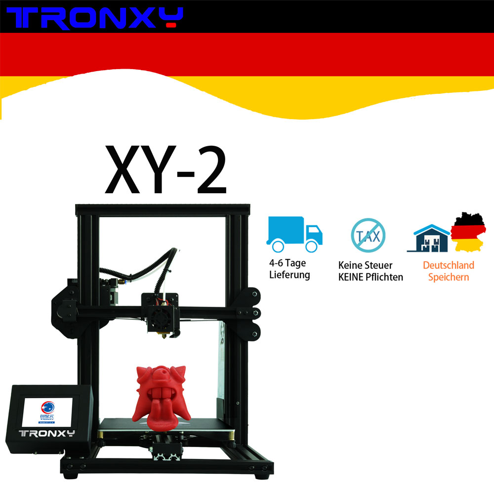 2019 Newest Tronxy XY-2 3D Printer 4020 Aluminium Profile 3.5 Inches Full Color Touch Screen with hotbed Fast Assembly Drucker image