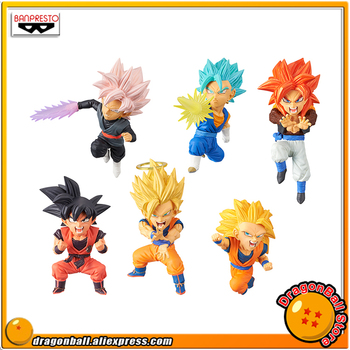"""Dragon Ball SUPER"" Original Banpresto WCF SAIYANS BRAVERY Vol.1 Collection Figure - Full Set of 6 PCS Super Saiyan Gokou Gogeta"